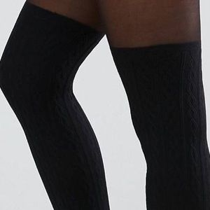 d25a279c4eb ASOS Pants - ASOS Cable Over The Knee Tights With Control Top